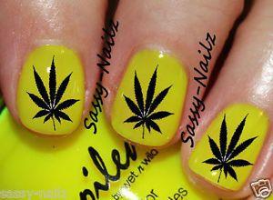 Yellow black pot leaf nail design 420 stoner nails pinterest yellow black pot leaf nail design prinsesfo Gallery