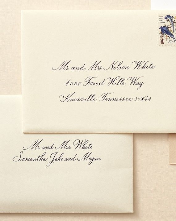 How To Address Guests On Wedding Invitation Envelopes With Images