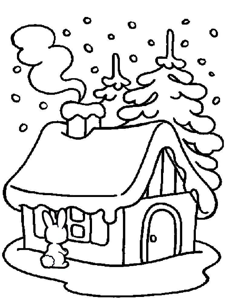Зимний лес - раскраски для детей, 10 шаблонов для ...
