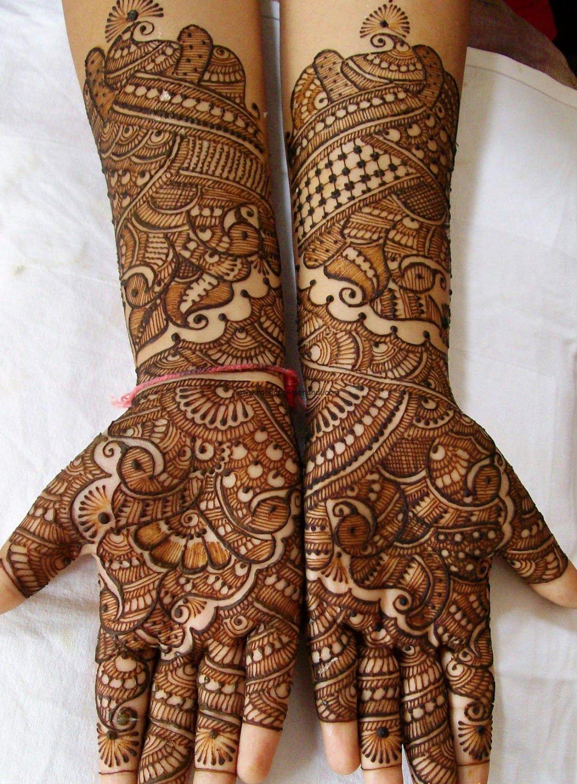 latest mehndi designs bridal