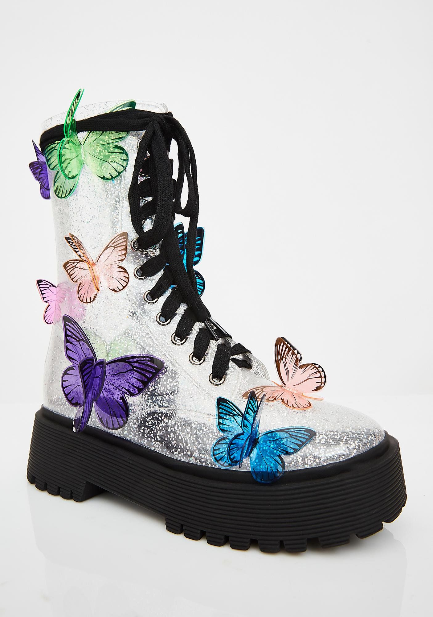 087c46f8b364f Terrarium Butterfly Boots in 2019 | Fairy Tales shoes | Shoes, Boots ...