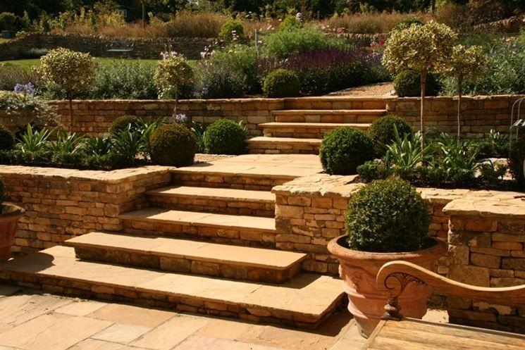 Giardini a terrazze - progettazione giardini - Giardino realizzato a ...
