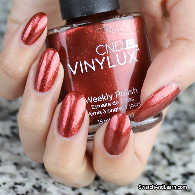 Is it hot in here, or is it just your nail polish? It's CND Vinylux Hand Fired from the Craft Culture Collection! (See swatches of the entire collection on SwatchAndLearn.com.)