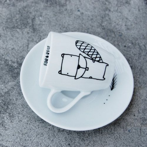 Espresso Cup Beaver By FORRESTdesign On Etsy, $13.00 #cup
