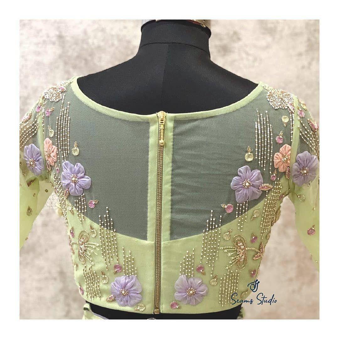 Beautiful Net Blouse Designs Collection 2020 - Latest Blouse Design | Blouse Designs Images,Blouse Neck Designs,Blouse Pattern