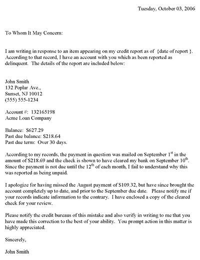 redit Dispute Letter Template Credit dispute, Letter templates - complaint letters template