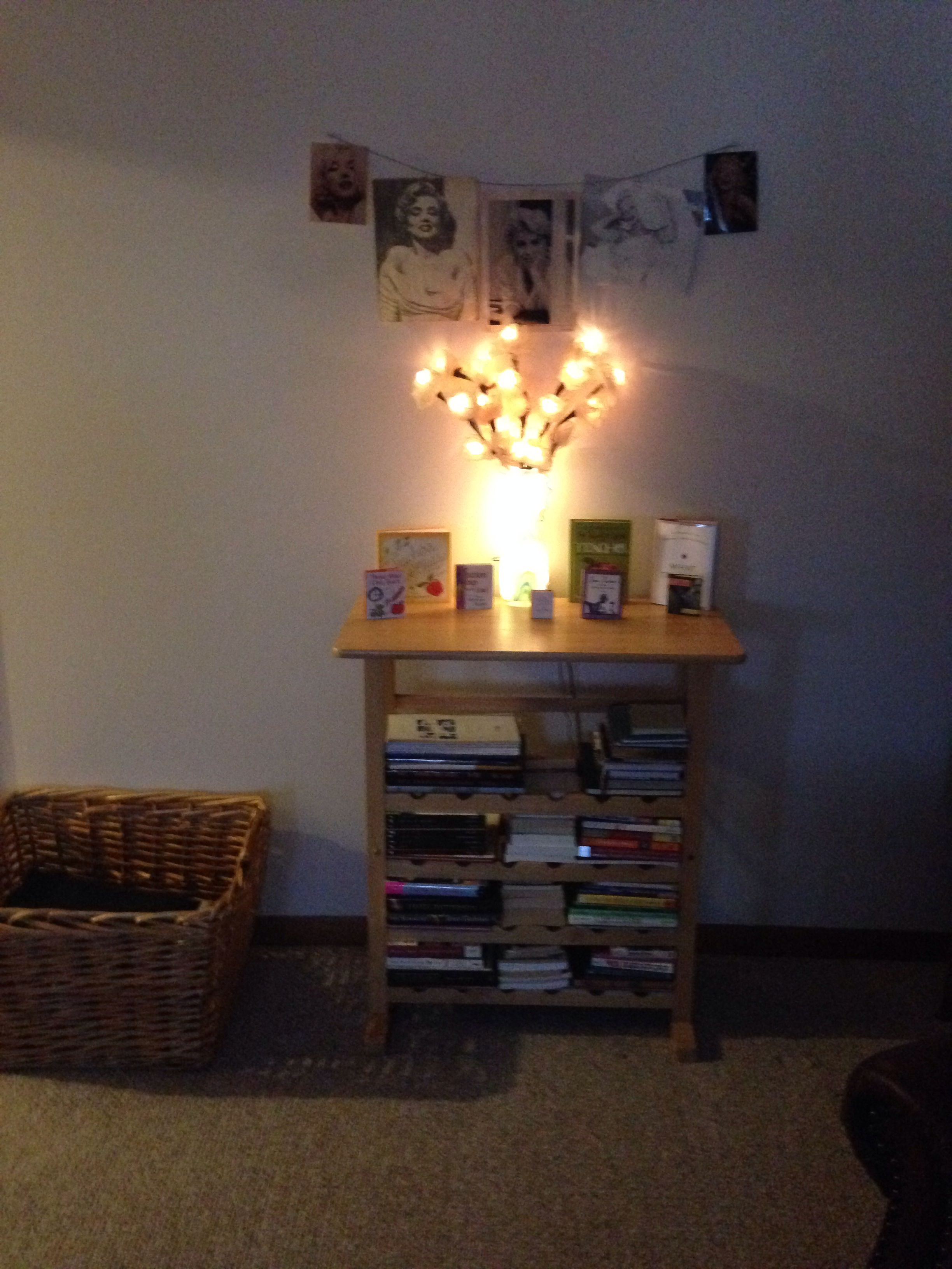 Old wine rack into a book shelf