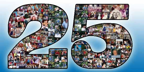 25th Birthday Gift For Husband Wife Boyfriend And Friend 25 Bday Collage