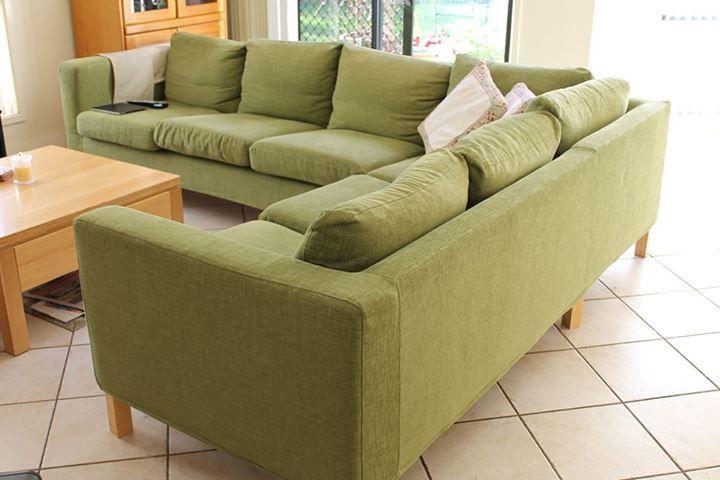 Karlanda Corner Sofa 32 Cover Sofa covers Green fabric and