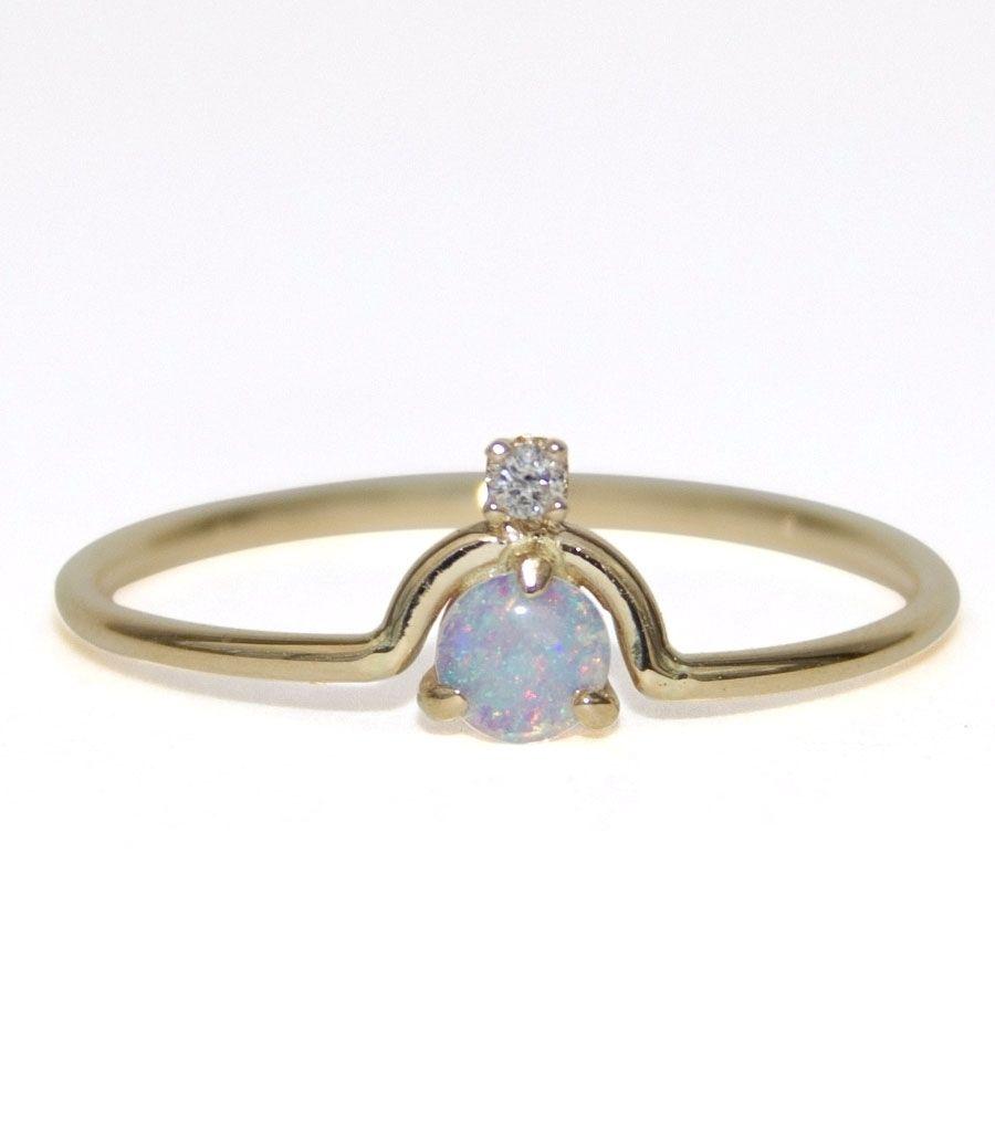 9dd50a76de41c Catbird :: Wwake :: Nestled Opal & Diamond Ring | style {rings ...