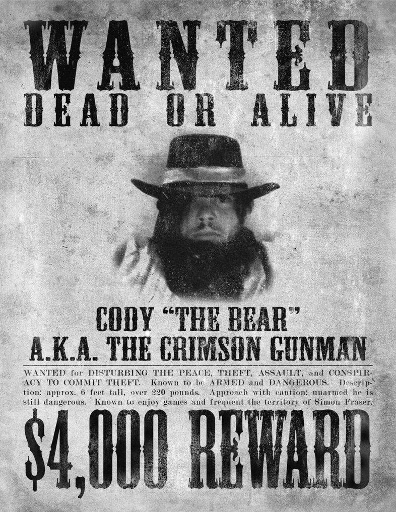 afiche de criminal GRAF SMO Pinterest – Old Fashioned Wanted Poster