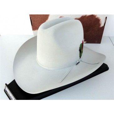 6503ead6d31 Resistol Cowboy Hat 4X Beaver Fur Felt Silver Belly Quarter Horse 60 ...
