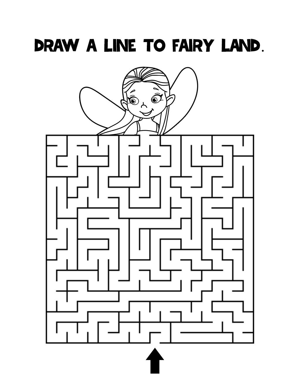 Kids Fairy Tail Mazes Activity Book