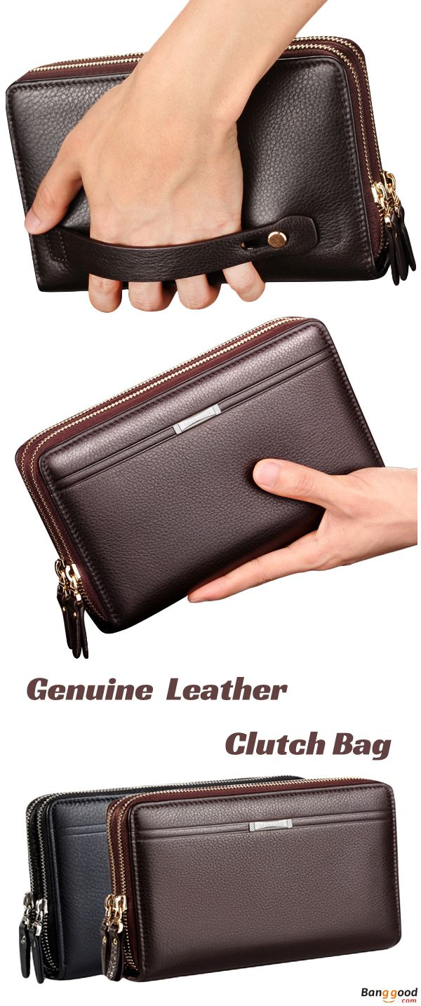 Men's Bags Men Wallets Money Bag Male Casual Solid Multifunction Handbag Tote Zipper Bag Purse Card Holder Cardholder Wallets For Men 100% Original Luggage & Bags