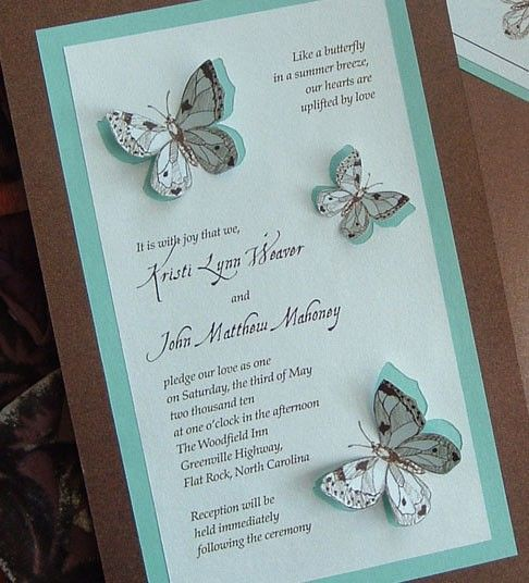 Teal And Chocolate Brown Butterfly Wedding Invitation Set Etsy Butterfly Wedding Invitations Butterfly Invitations Butterfly Wedding