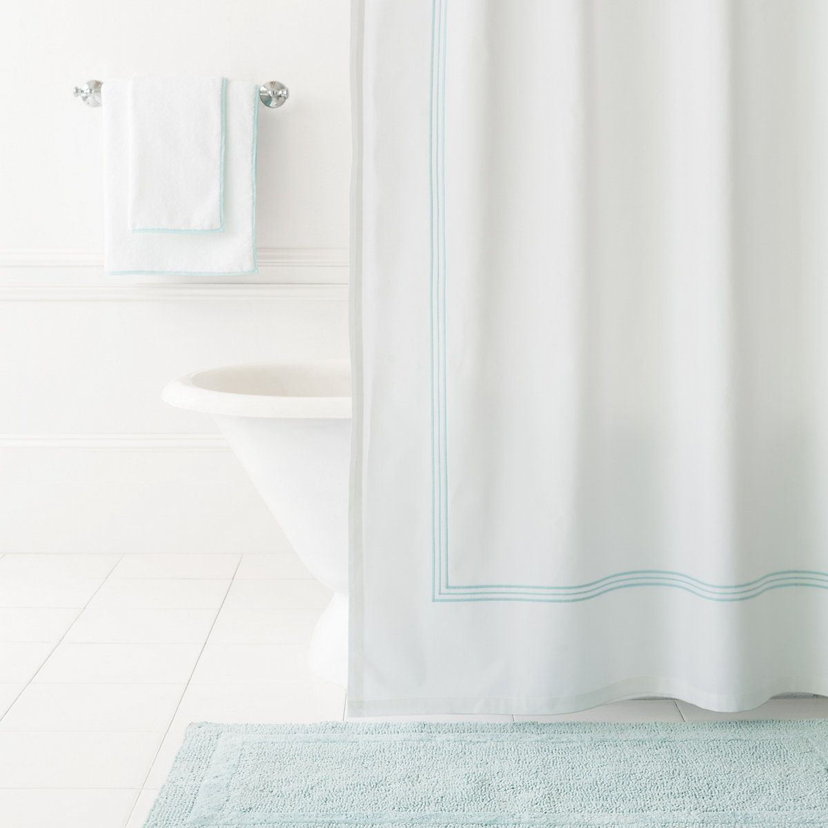 Trio Sky Shower Curtain | Bath rugs, Towels and Bath