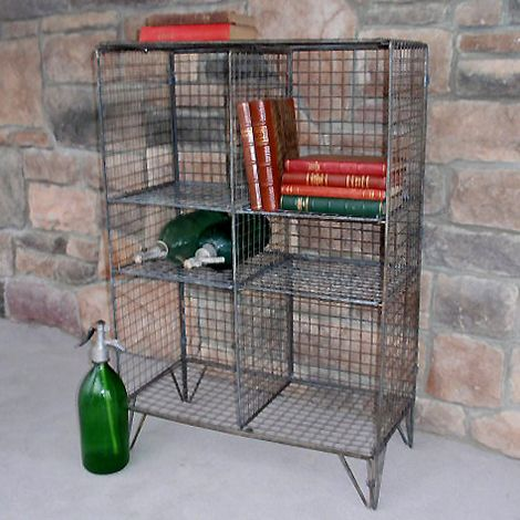Vintage Metal Wire Bookcase (small) - Cubby Holes Are 12w X 12h And 12w X 6h. (24w X 12d X 35h). $295