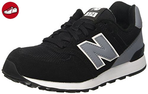 Black · New Balance Unisex-Kinder 574 High Visibility Sneakers, Schwarz ...