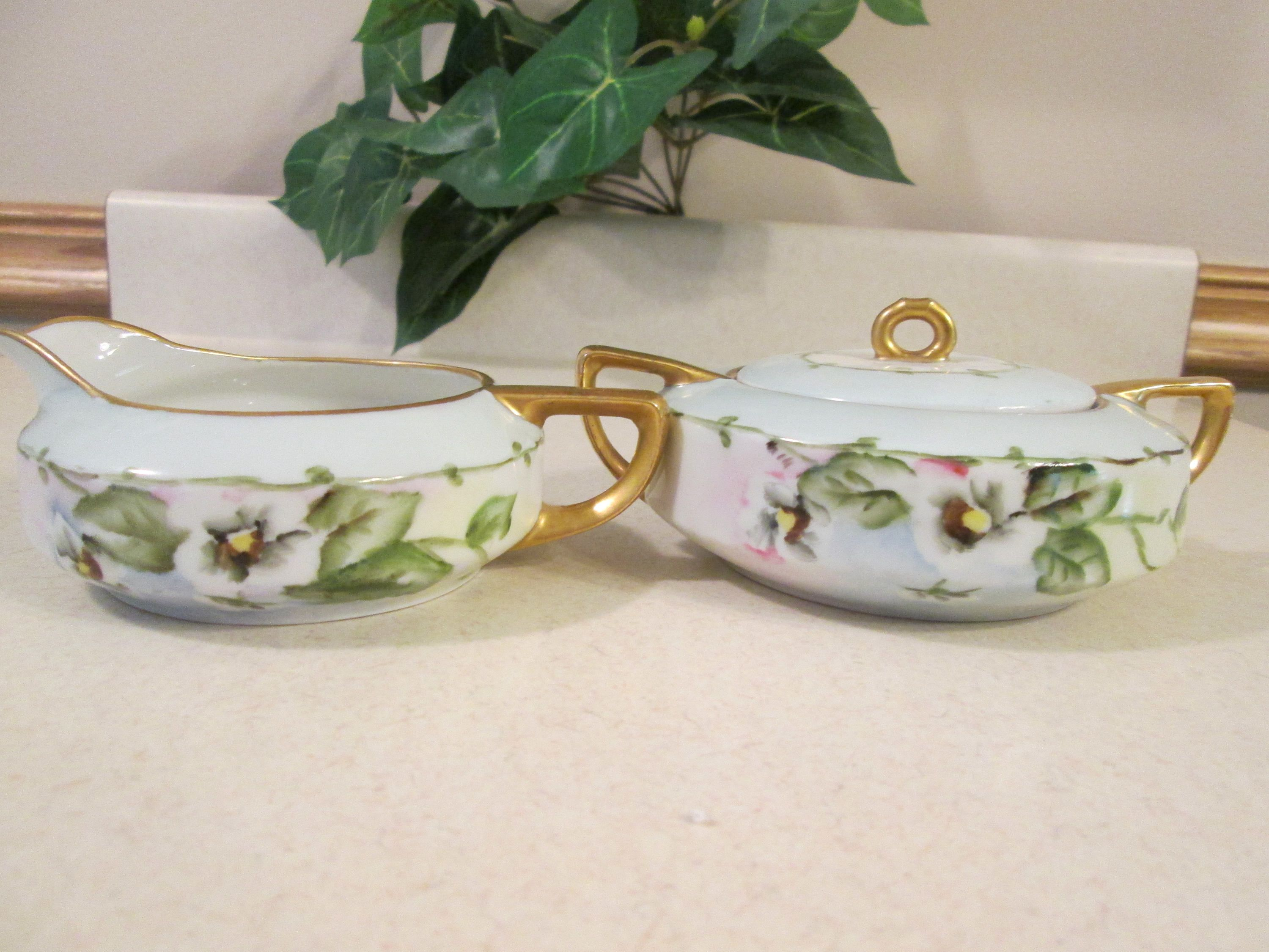Vintage Oscar U0026 Edger Gutherz Sugar Bowl And Creamer, Royal Austria Sugr  Bowl And Creamer, Kitchen Serving Pieces, O.E. G Sugar Bowl