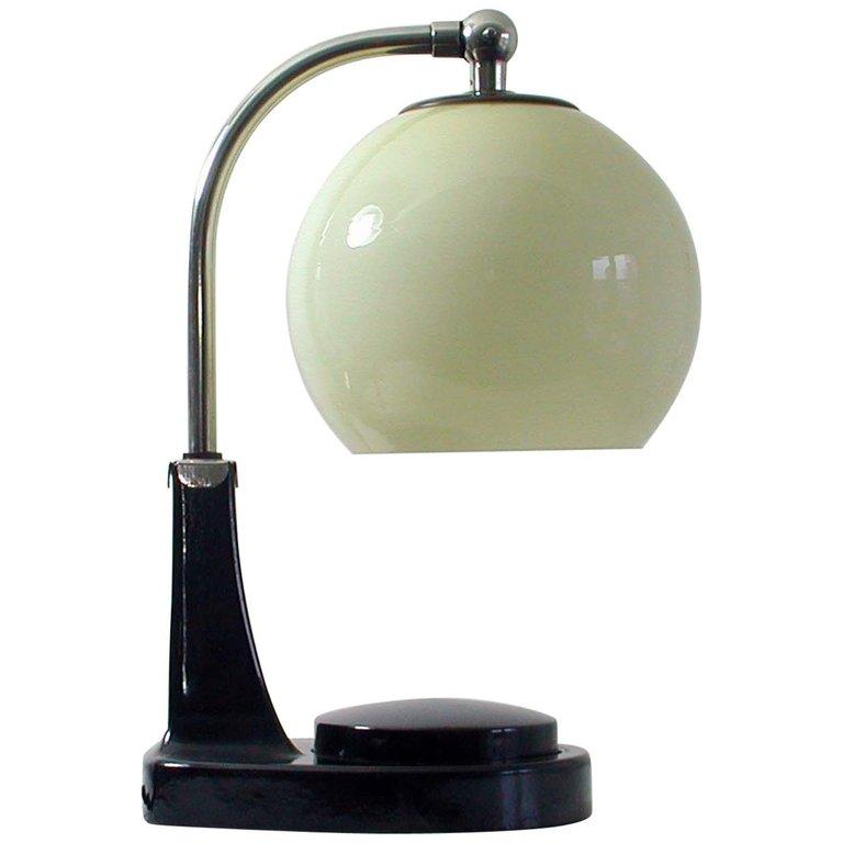 German Bauhaus Marianne Brandt Bakelite And Opal Touch Light Table Desk Lamp Glass Lamp Shade Lamp Desk Lamp