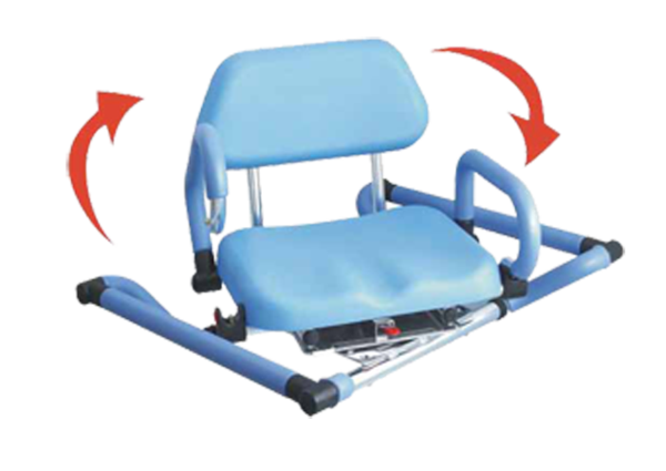 HydroSlide Sliding Bath Chair with Swivel Seat Shower