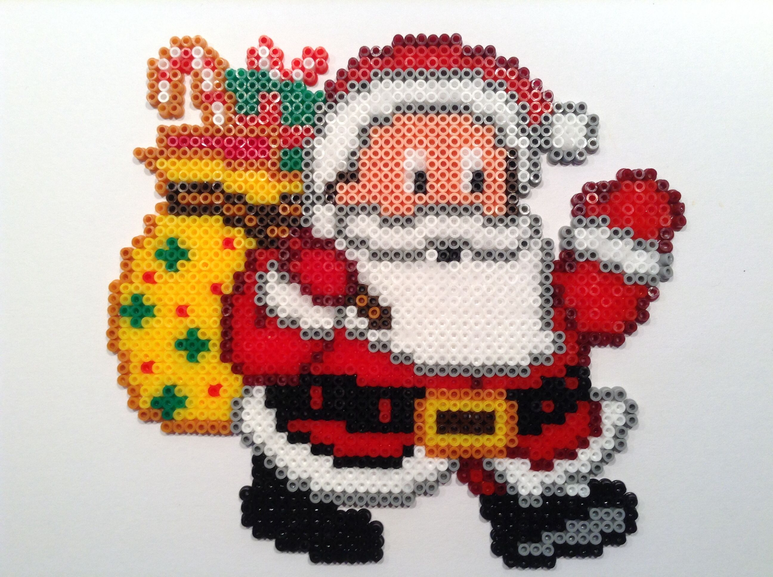 Santa Christmas hama beads by Helle Petersen