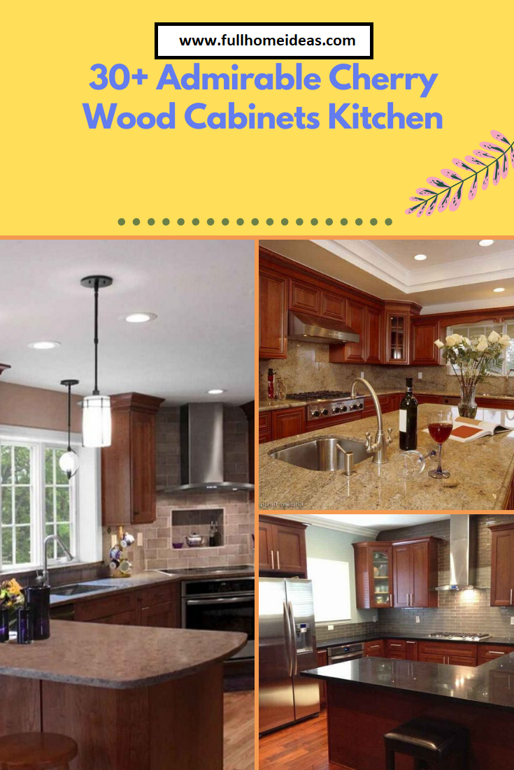 30 Admirable Cherry Wood Cabinets Kitchen Wood Kitchen Cabinets Cherry Wood Cabinets Wood Cabinets