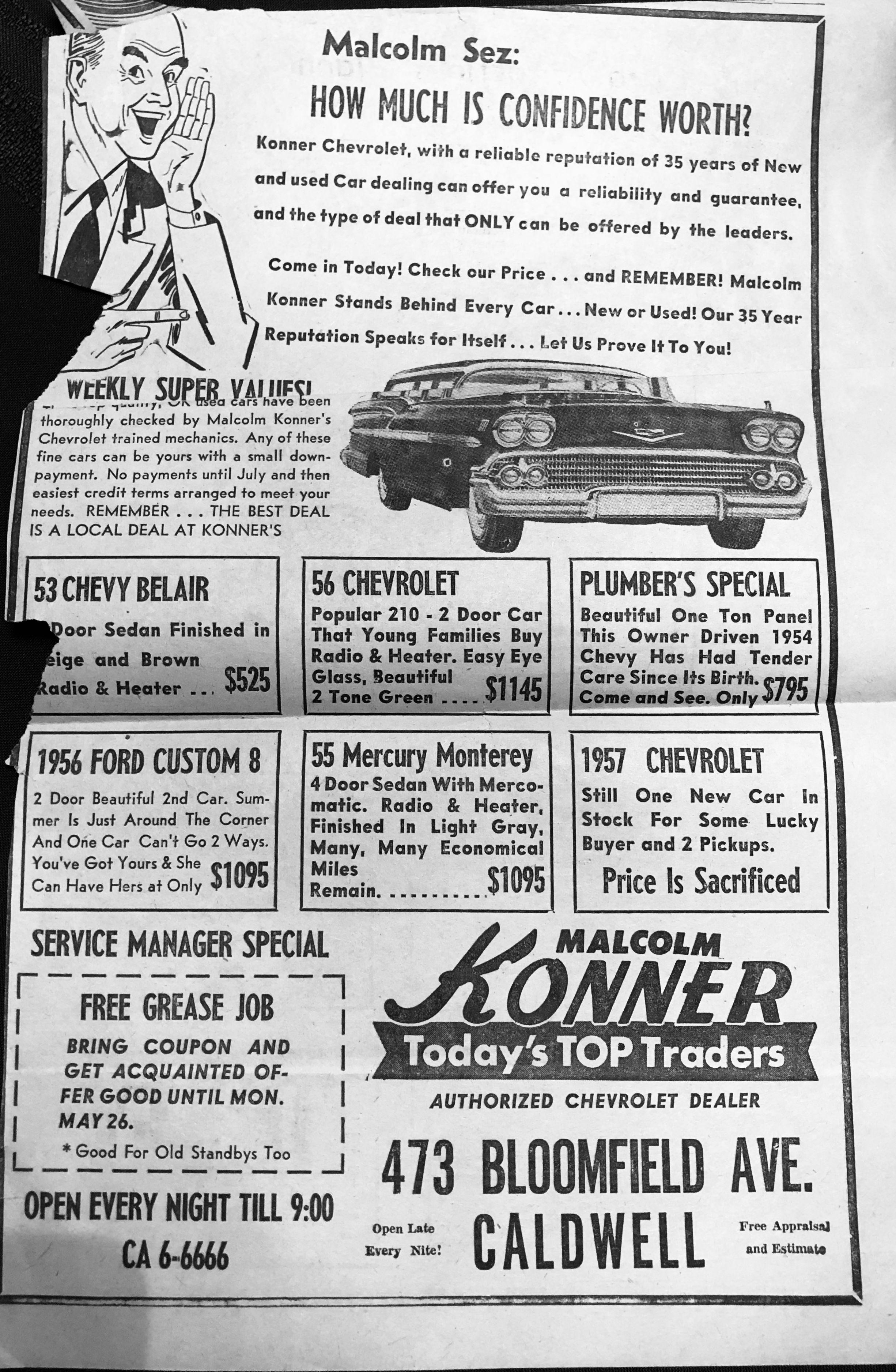 A Malcolm Konner Chevrolet Adv 1958 Car Advertising Car Ads Vintage Cars