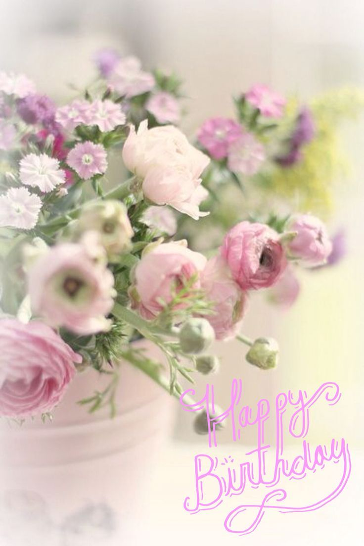 Image Result For Happy Birthday Flowers Happy Birthday Pinterest