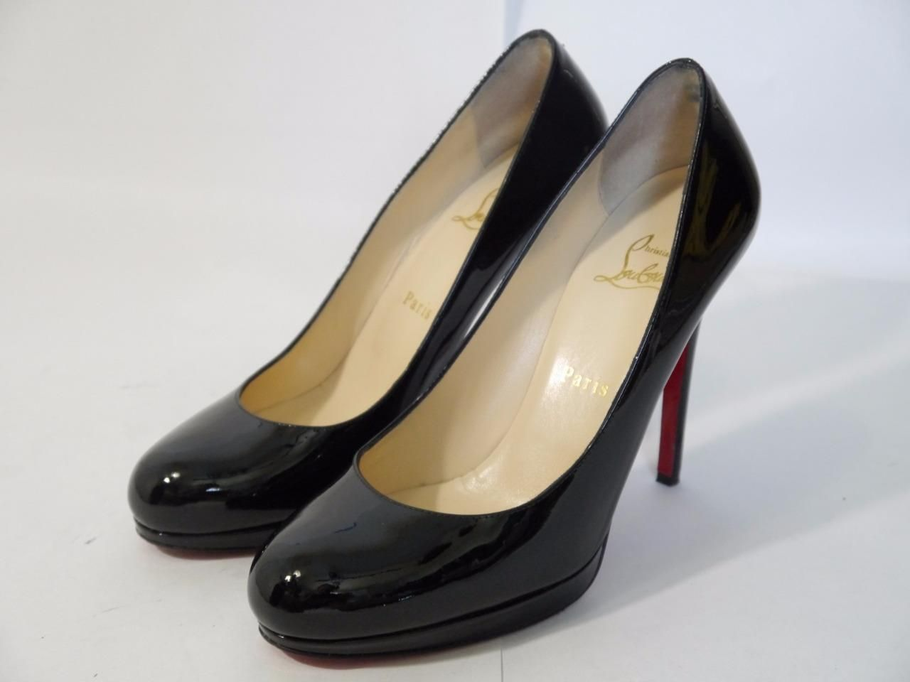 sports shoes 6278c 36b1d Christian Louboutin New Simple Pumps 120 Black Patent ...
