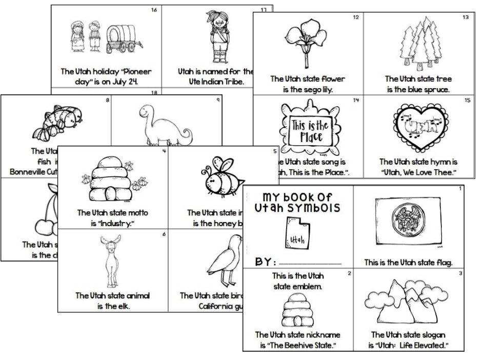 Utah State Symbols And Sentence Scramble (Plus Pioneers) | Utah Symbols And Students