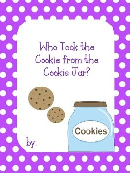 Who Took The Cookie From The Cookie Jar Book Who Took The Cookie From The Cookie Jar Classbook For K3  Cookie