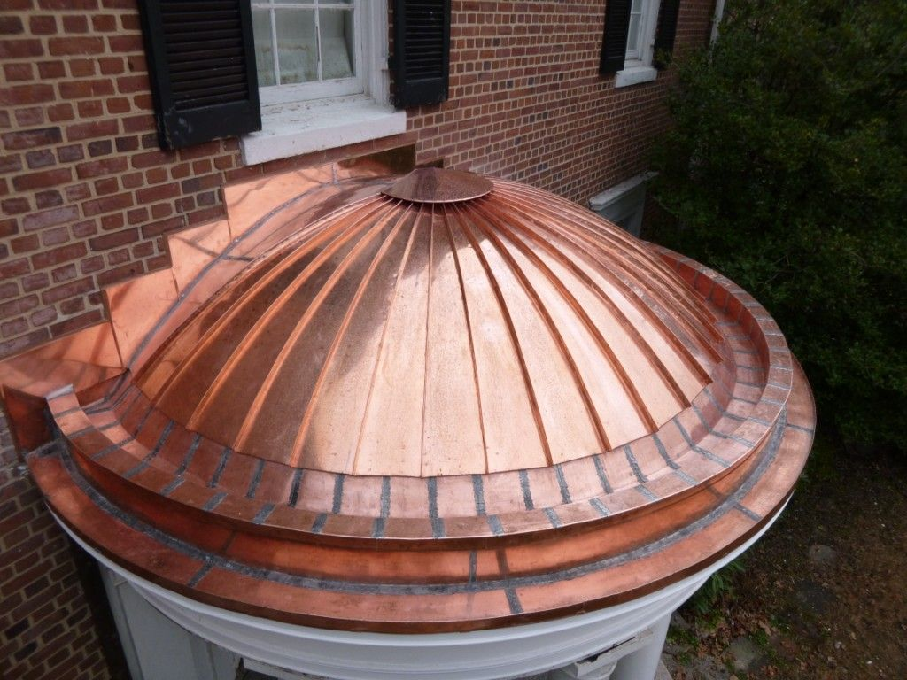 Copper standing seam roof metal roof construction