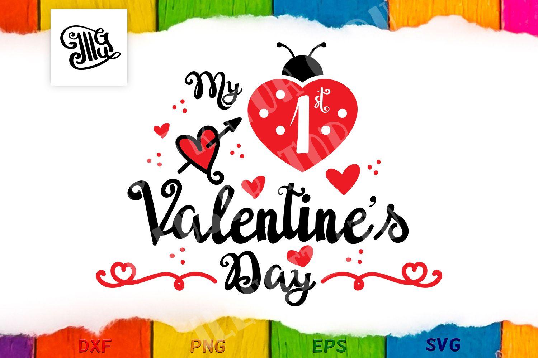Download Free My 1st Valentine Svg PSD Mockup Template