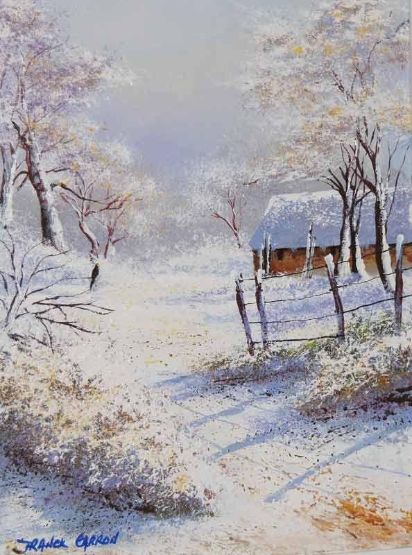 La neige paysages cont s par l 39 artiste franck carron l 39 artiste impressionniste du xxi si cle - Paysage enneige dessin ...
