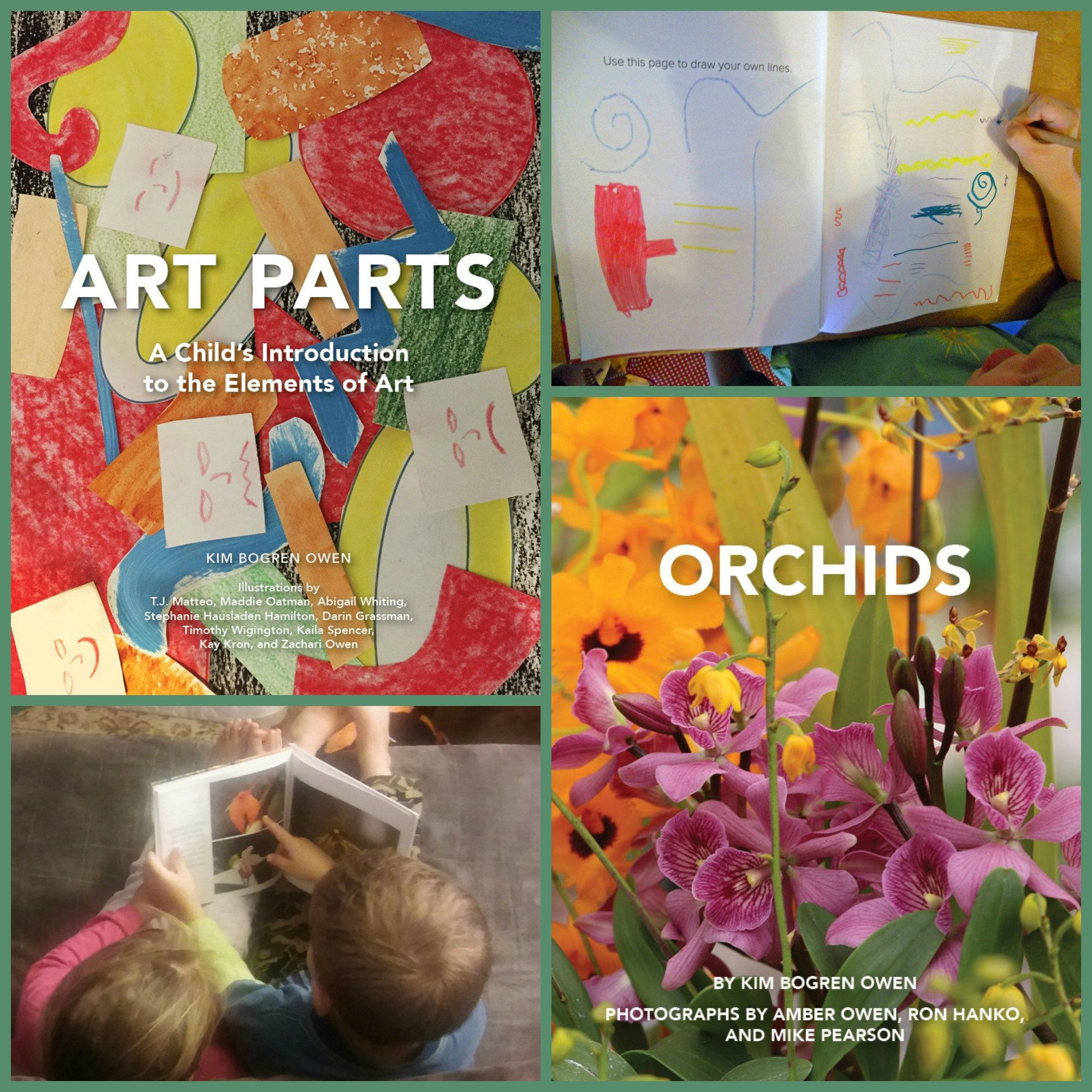A Child/'s Introduction to the Elements of Art book and Art Parts Collage Box Bundle Preschool Art Supplies Activities Art Parts