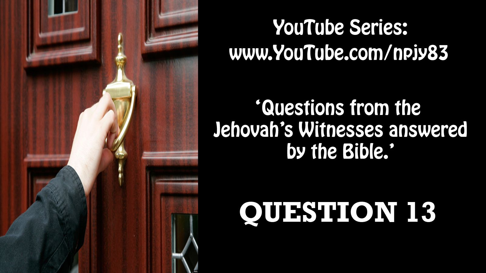 """Question 13 """"Who are going to Heaven?""""  Watch now at: http://youtu.be/OANAcSuRzwM  #Jehovah #JehovahsWitness #JehovahWitnesses #Salvation #Gospel #JesusSaves #Watchtower #Heaven #Paradise #hope #faith #love #KingdomHall #144000 #JWorg"""