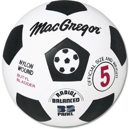MacGregor Rubber Soccer Ball, Black