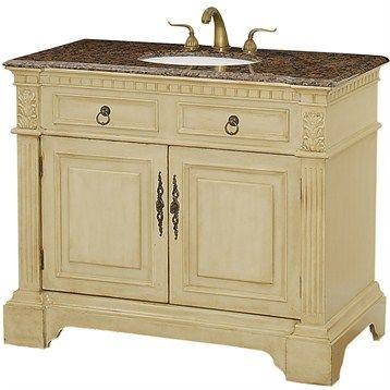 "somerset 43"" antique white | bathroom vanity, wood"
