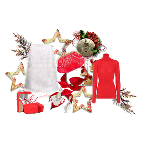 stylemaker - URSTYLE #christmaspartyoutfit #christmaslook #whiteandredoutfit #partylook