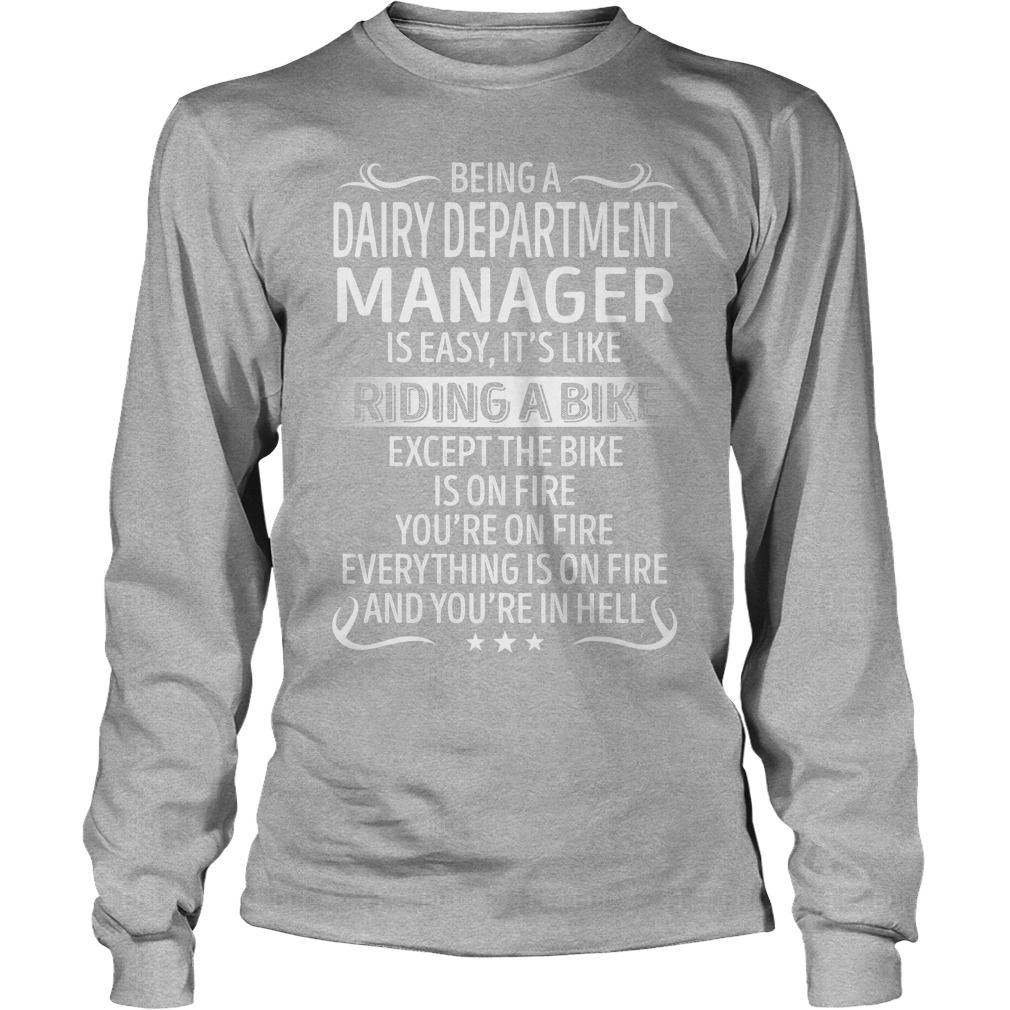 Being a Dairy Department Manager like Riding a Bike Job Title TShirt #gift #ideas #Popular #Everything #Videos #Shop #Animals #pets #Architecture #Art #Cars #motorcycles #Celebrities #DIY #crafts #Design #Education #Entertainment #Food #drink #Gardening #Geek #Hair #beauty #Health #fitness #History #Holidays #events #Home decor #Humor #Illustrations #posters #Kids #parenting #Men #Outdoors #Photography #Products #Quotes #Science #nature #Sports #Tattoos #Technology #Travel #Weddings #Women