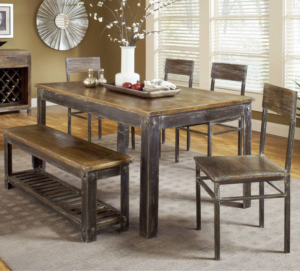 Farmhouse Kitchen Table With Bench
