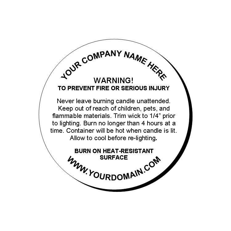 When Selling Candles, Warning Labels Need To Be Placed On