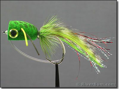 ultra foam bass popper frog - for wading those weedy shorelines in, Fly Fishing Bait