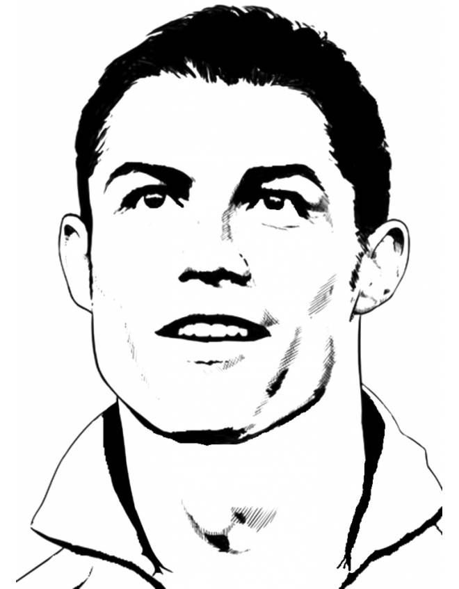 Ronaldo Coloring Pages Ronaldo Line Art Drawings Face Lines