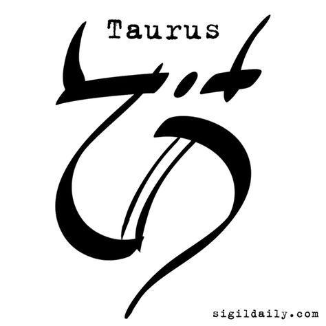A Sigil Art Reimagining Of That Most Bullish Of Zodiac Symbols