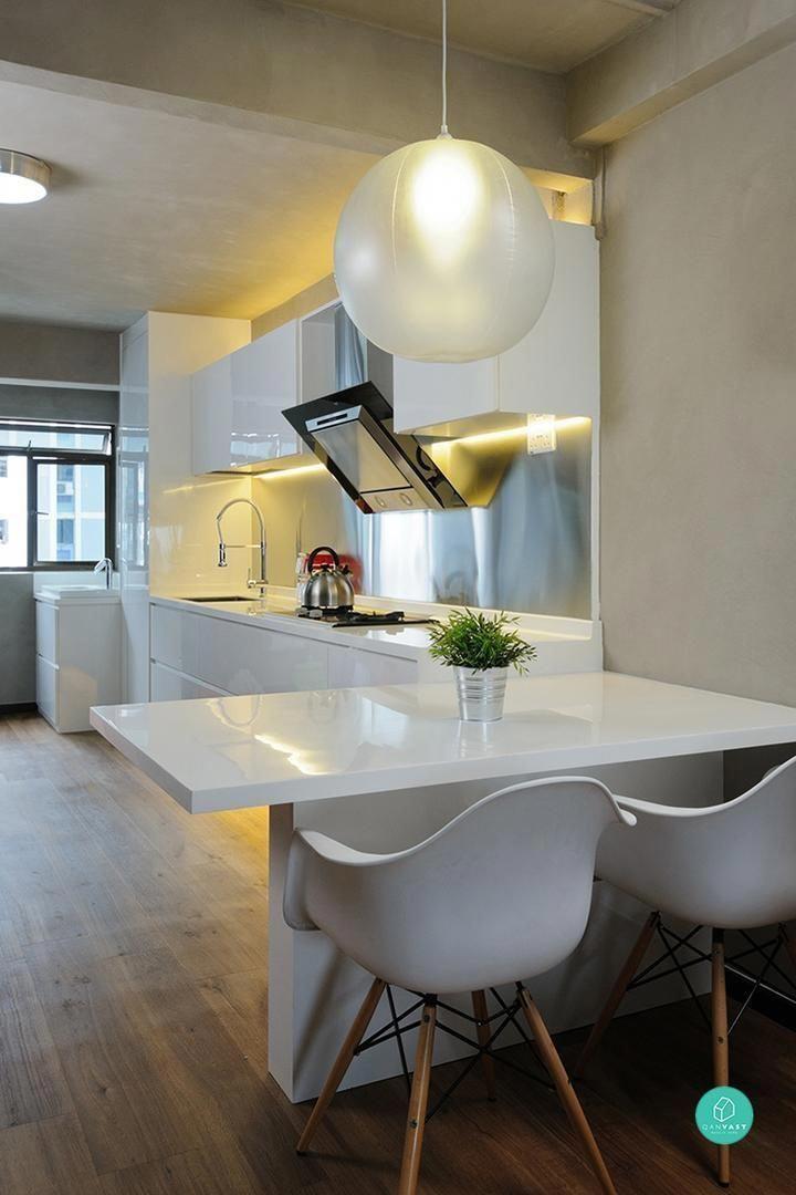 Renovation Ideas For 4a Hdb Living Room: Wooden Inside Doors