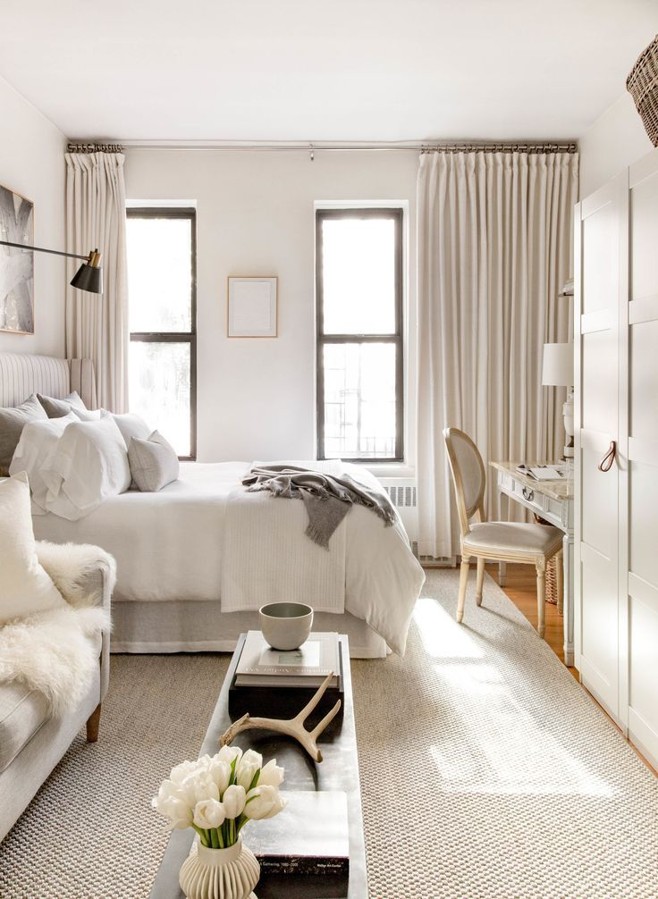 Nyc Studio Apartment Designed By Meagan Camp Featured In Domino Magazine Stud Apart Small Studio Apartment Decorating Apartment Room Small Room Design