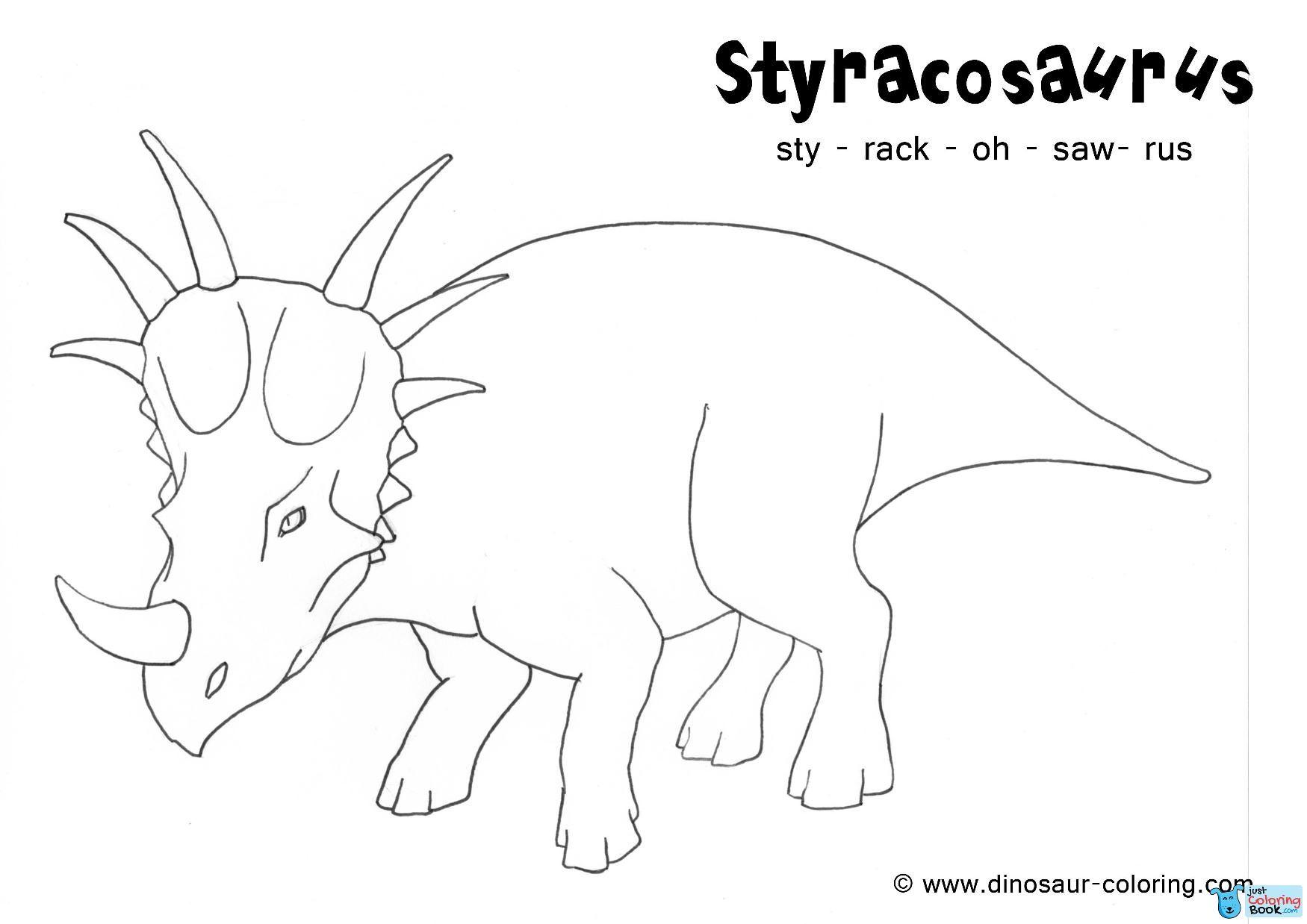 Styracosaurus Coloring Inside Styracosaurus Cretaceous Period