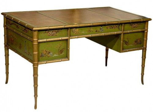Faux Bamboo Chinoiserie Desk